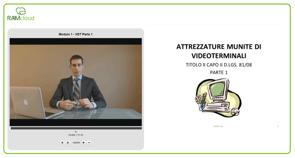 Altra immagine da e-learning.raam.it